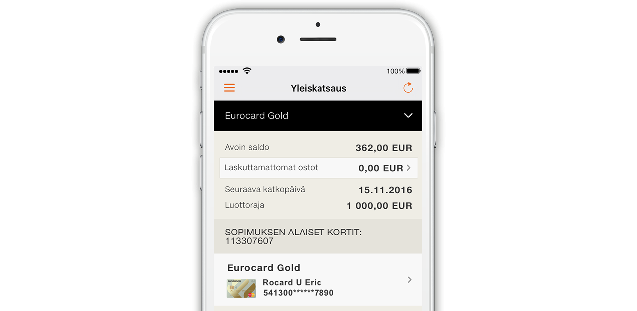 Smart Receipts With Eurocard